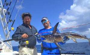 Catching swordfish on spinning tackle