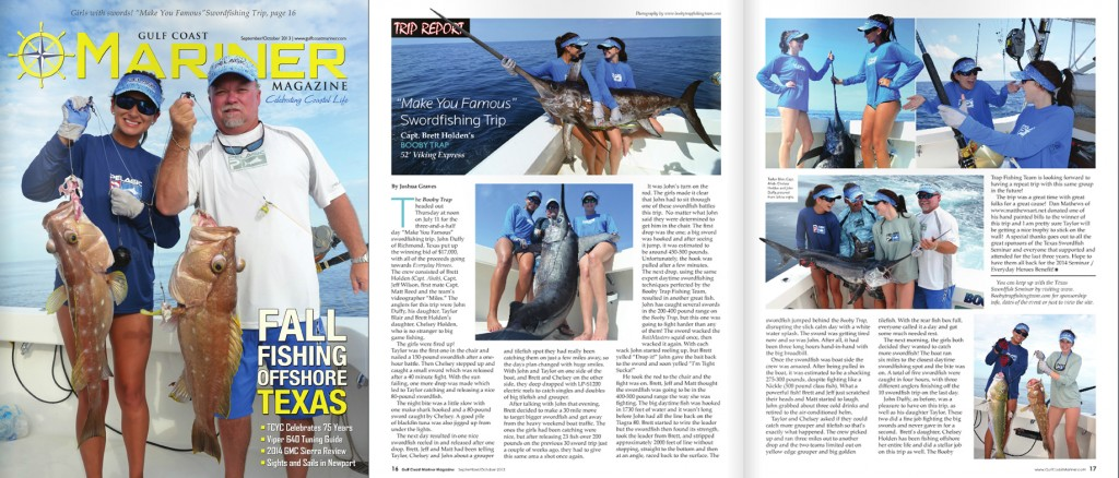 Booby Trap Fishing team catches daytime swordfish in the gulf