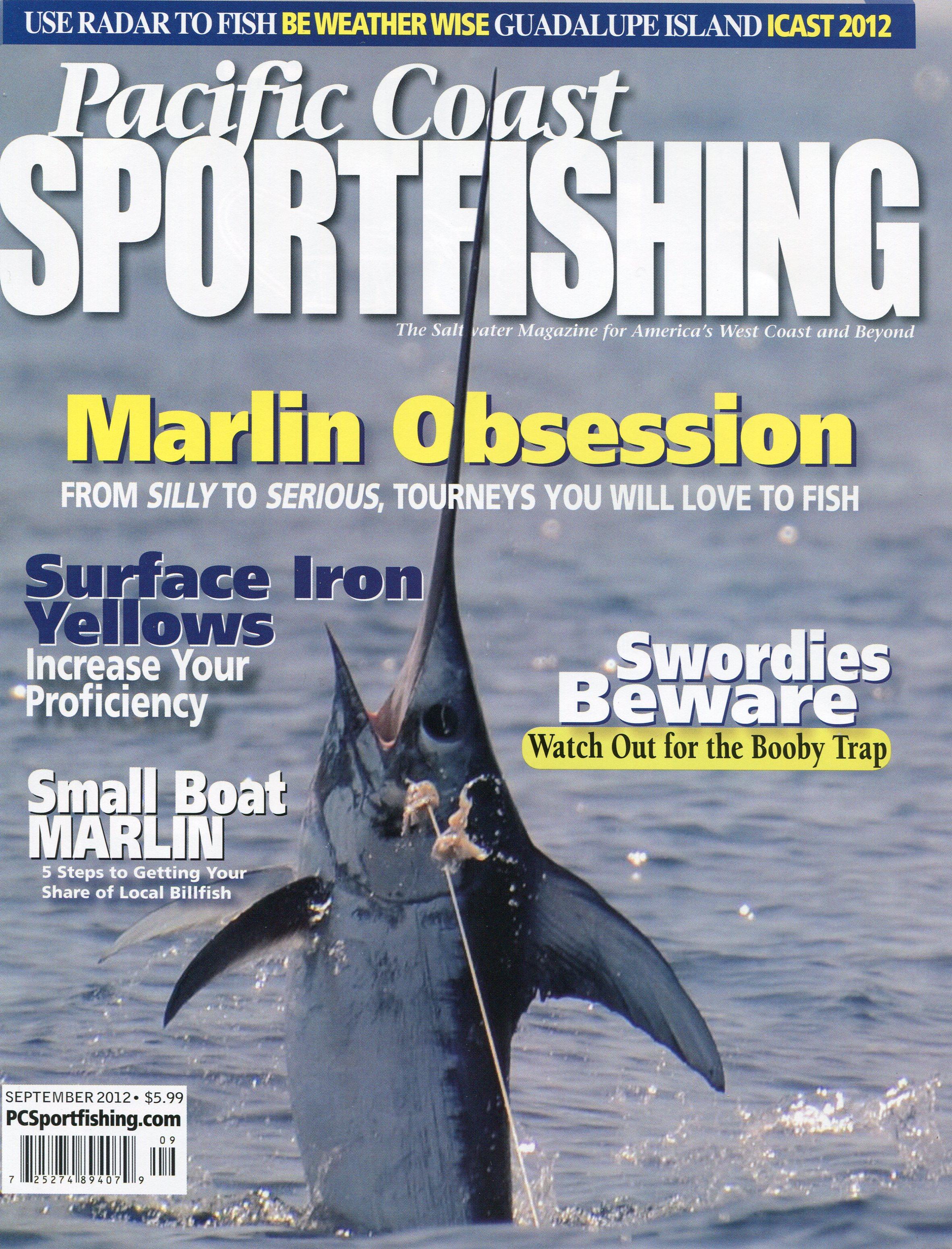 Booby trap in pacific coast sportfishing magazine for Pacific fishing magazine