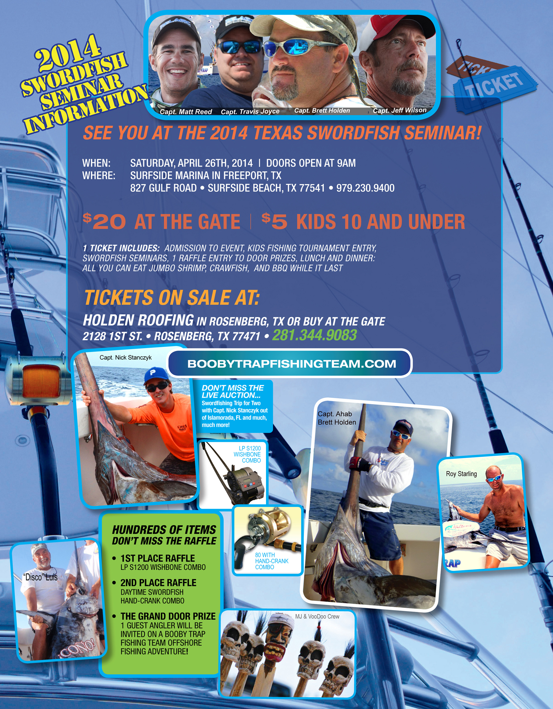 SWORDFISH SEMINAR TICKET INFORMATION
