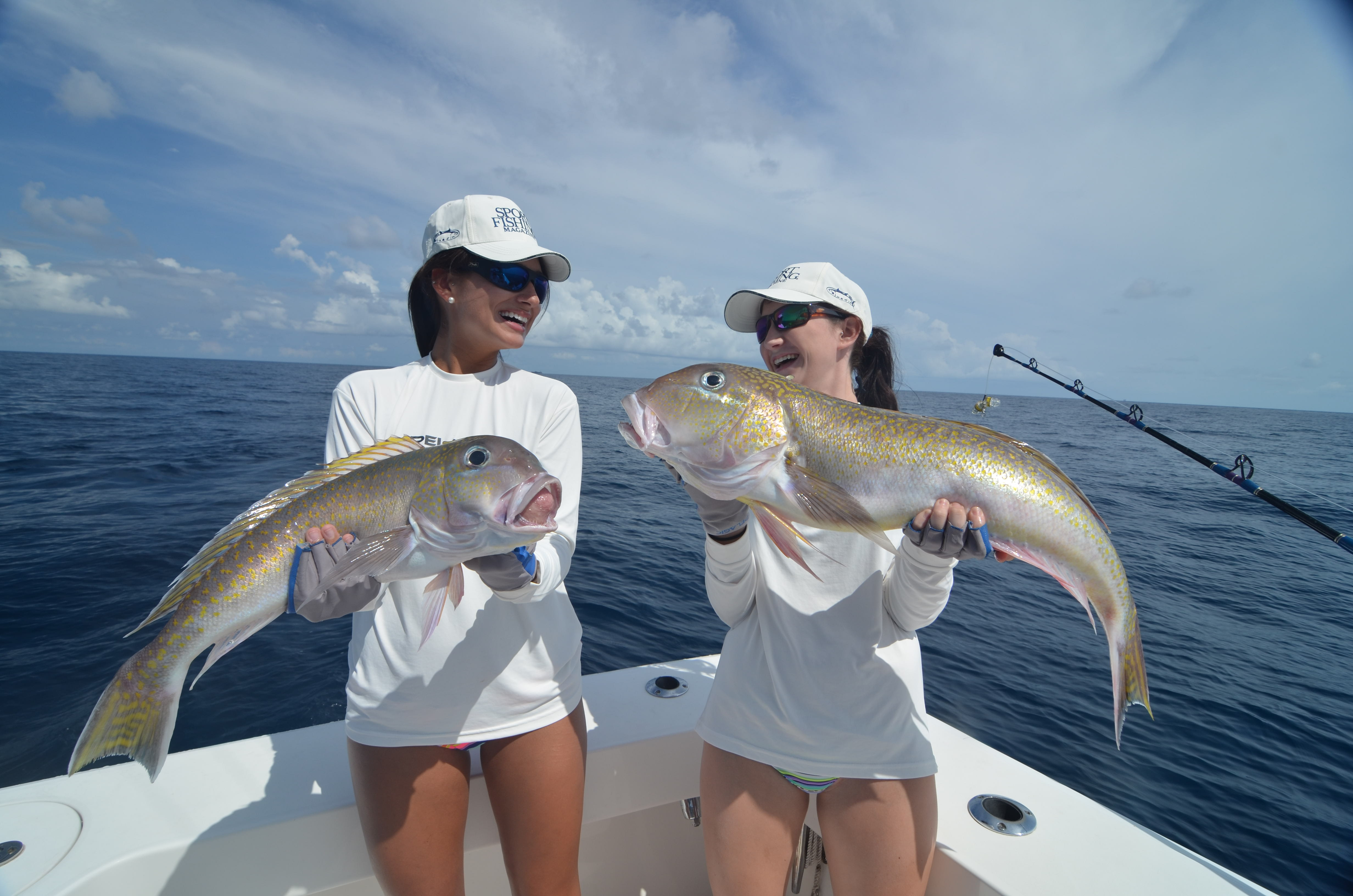 Beautiful girl 39 s catching swordfish and giant tilefish for Fishing for girls